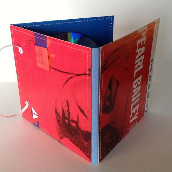 3 CD Holder Handmade from Upcycled Vintage Album Cover