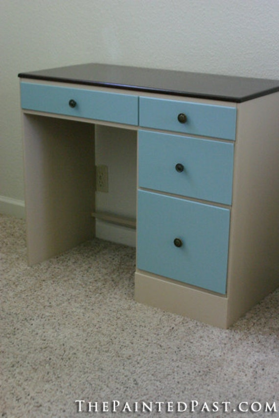 Painted and Stained Desk - BEFORE AND AFTER
