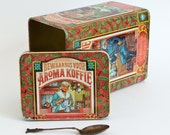 New price - Vintage Coffee Tin Box Douwe Egberts - Aroma Koffie