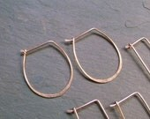 "Handmade 20ga Wide ""U"" Hammered Copper Earrings to Embelish or wear as is - MADE TO Order"