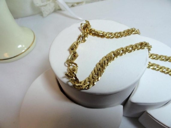 Vintage Gold Tone Flat Link Chain - 1532a-052112000
