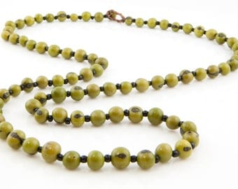 Acai Seed Necklace / Green Necklace / Long Necklace / Acai Seed Jewelry / Seed Jewelry / Fair Trade / Long Layering Necklace / Acai Necklace