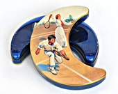 Tennis Players Swiss Small Tin Candies Box