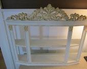 Shabby white vintage syroco shelf. Great detail.  New Sale Price