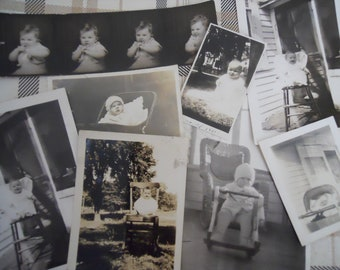 1920s-40s Single Babies Antique Photo Lot No.1