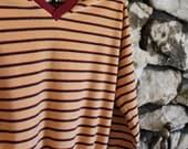 Velour v-neck pullover