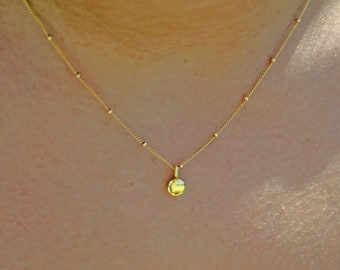 DEFYING GRAVITY GOLD - gold filled satellite chain with gold drop