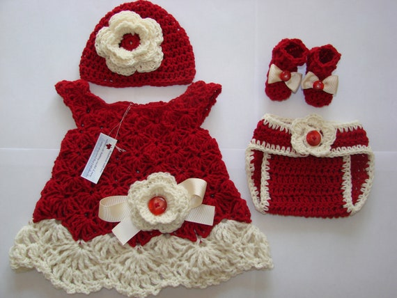 Beautiful Unique Soft wool Baby girl dress diaper cover