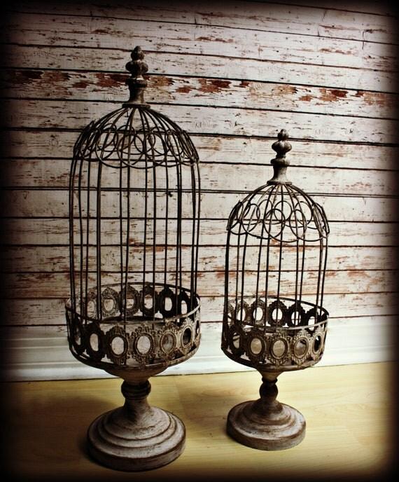 Vintage Birdcage-Large Pedestal Birdcage-Decorative Birdcage
