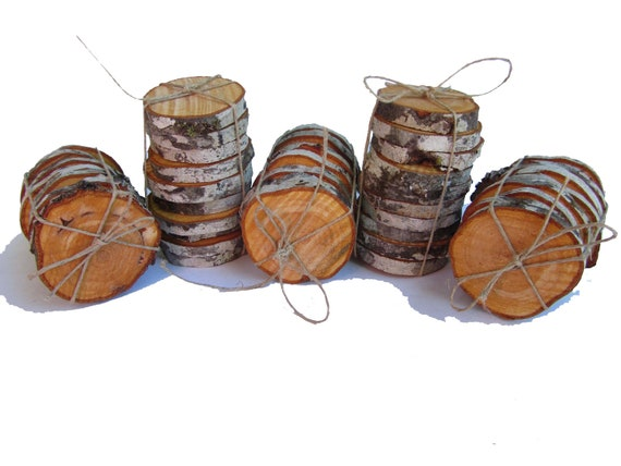 Wedding decorations wood slices, wood rounds, tree slices, tree disc, tree bark, natural tree bark natural color craft painting woodburning