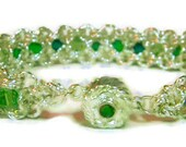 Bracelet Chainmaille Green Crystal