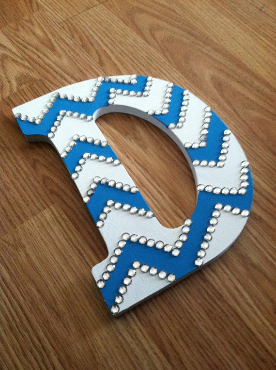 wooden letters craft ideas initial rhinestone chevron wooden letter made to order 5774