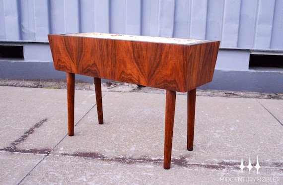 Small Danish Modern Mid Century Rosewood Planter Box