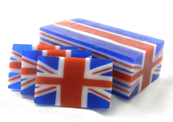 British Flag Inspired Soap