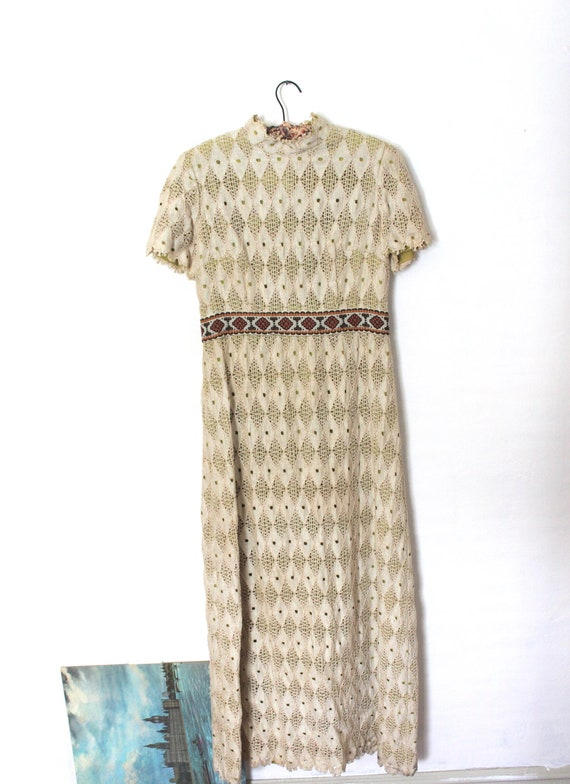 Vintage Henry Lee Boho Chic Womens Floor Length Dress (Size 14)