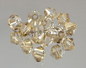 4mm Crystal Golden Shadow Swarovski Crystal Bicone Beads 72 Beads #45-1126