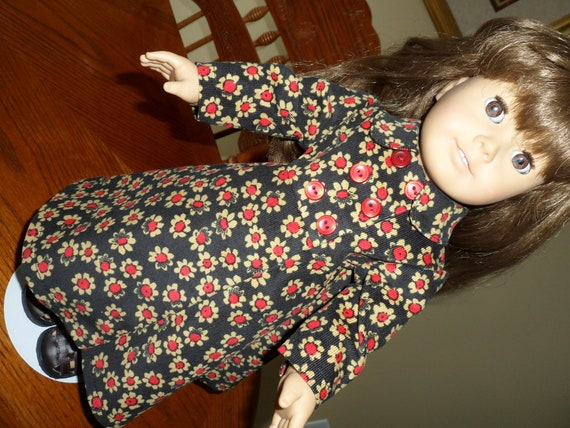 REDUCED Full Length Corduroy Coat for American Girl and other 18 inch dolls