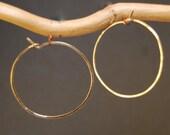 Hammered Large Hoop Earrings