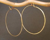 Hammered XXL Hoop Earrings
