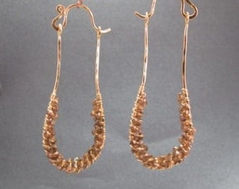Hammered drop earrings with choice of gemstone Luxe Bijoux 41