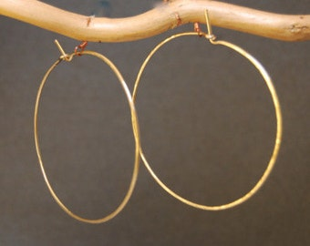 Hammered XXL Hoop Earrings