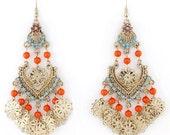 Exquisite Gold-tone Bohemia Style Long Dangle Drop Earrings