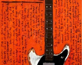 Johnny Ramone Mosrite electric guitar art print