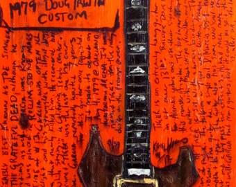 Jerry Garcia Tiger custom guitar art print
