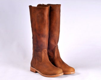 WANDERLUST. Riding boots / womens leather boots / knee boots / knee high boots. Sizes US 4-13. Available in different leather colors.