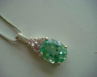 Beautiful Green Quartz Necklace