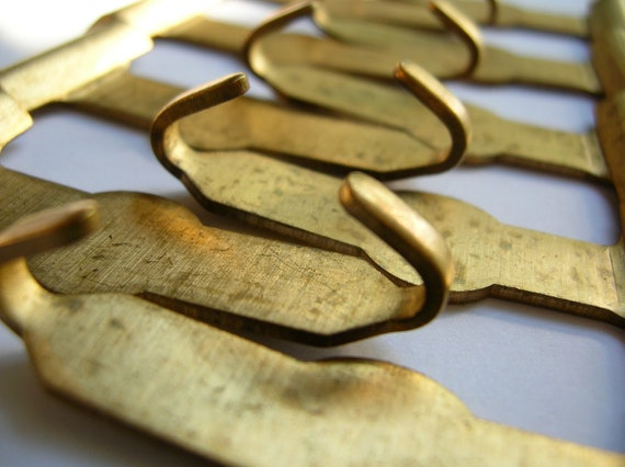 Brass buckle components NOS