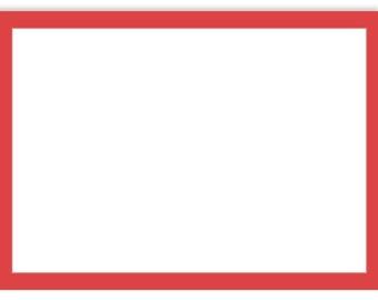 A7 Border Flat Notecard (5 1/8 x 7) - Ruby Red Border - 50 Qty.