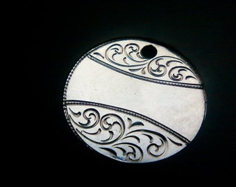 personalized newly hand engraved love token on silver coin