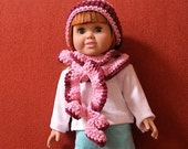 Crochet Pattern 18 Inch Doll Spiral Scarf and Hat Digital Download