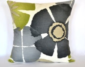 Throw pillow decorative pillows green pillow designer pillows sofa pillow cushion cover 18x18 pillows pure petal robert allen lumbar pillows