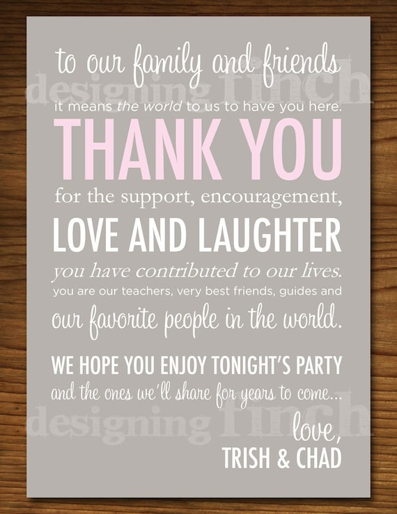 Wedding Thank You Place Card Stationary Customizable – Free Printable Wedding Thank You Cards