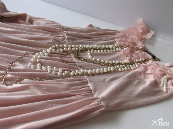 Necklace - Long Pearl Necklace -Necool- 005