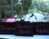 Shabby Chic Wedding Chalk Board Signs SET OF 6 Chalkboard sign, Rustic Wedding Table Numbers