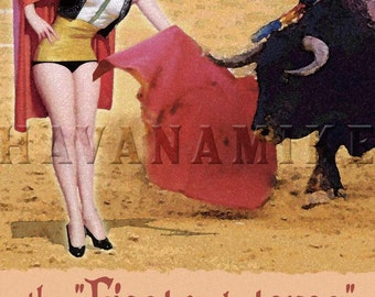 Spain Bullfighting Pinup Poster Print