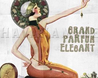 Paris France FLOUVELLA PERFUME Pinup Poster Print