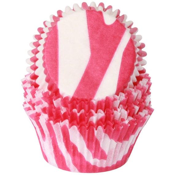 Pink Zebra Cupcake Liners