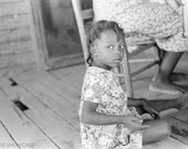 Little African American / Black girl - Vintage Photo Reprint
