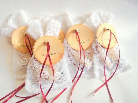 20 Wedding Favor Bags, Shower bags, Vintage Favor bags, Lace Favor Bags, Gift bag, Baby favor Bag