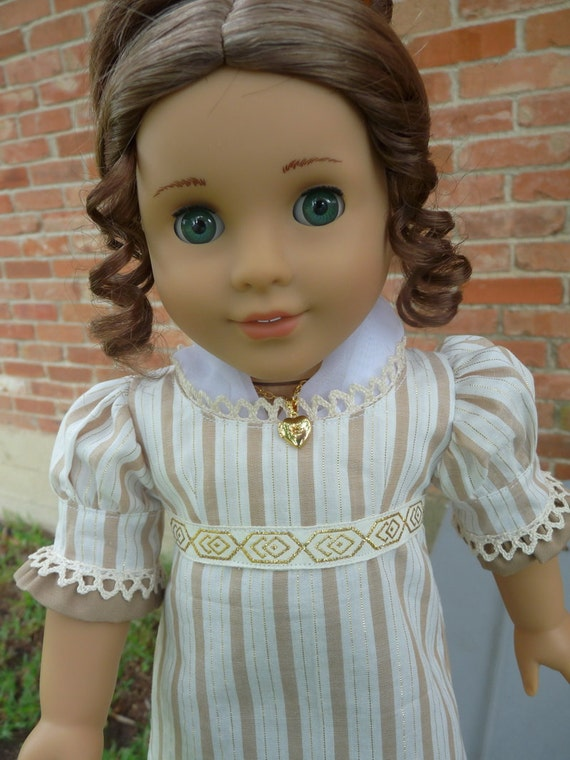 """18"""" Doll Clothes Regency Style Day Dress Fits American Girl Caroline, Josefina, Marie Grace,Cecile"""