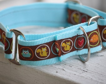 "Kane's Squirrels & Critters  1.5"" Martingale Collar"