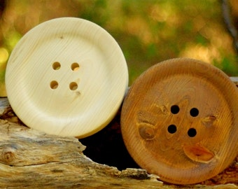 Large 8.5 Inch Wooden Button - Huge Wood Button - Big Button - Button Wall Decor