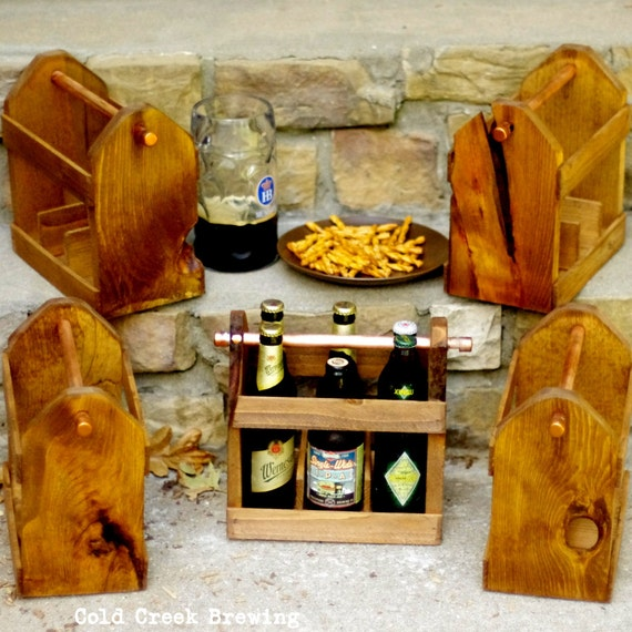 QTY 8 Home Brew Six Pack Carriers - Beer Bottle Carriers - Free Shipping & Discount -Wedding Party GIft -Groomsmen Gift