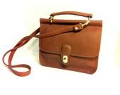 Acorn Leather Crossbody Satchel - Large Top Handle Station Messenger Bag