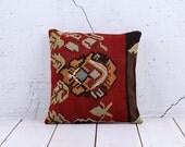 16 x 16 Throw Pillow Decorative Pillow Accent Pillow Bohemian Pillow Vintage Kilim Pillow Cover Old Cushion Retro Pillow - 02296-39d-1,3