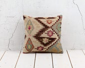 """hand woven vintage kilim pillow cover - 15.75"""" x 15.75"""" - free shipment with UPS - 02312-59"""